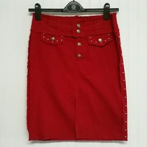 XOXO Jeans Red Skirt
